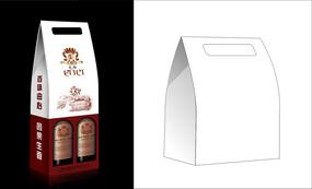 清新素雅紅酒包裝設計