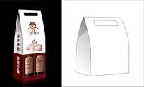 清新素雅红酒包装设计