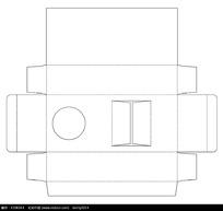 矢量包装盒展开图模板