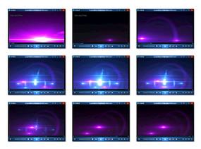 蓝紫色光晕背景视频