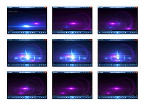 蓝紫色光晕粒子视频