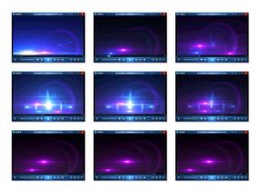 蓝紫色粒子光晕视频