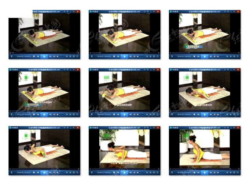 室内运动减肥动作视频教程图片