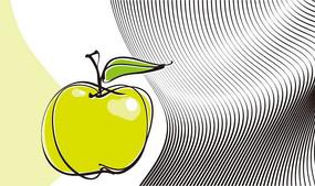 苹果动感曲线矢量图形背景