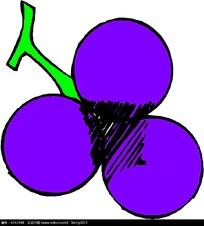 葡萄手绘矢量图形