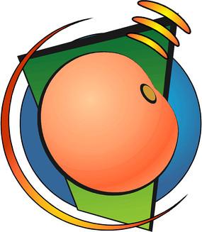 柿子手绘线描矢量图形设计