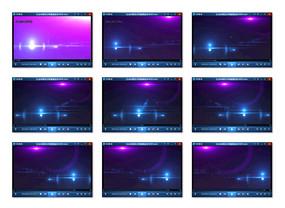 紫色光晕背景视频
