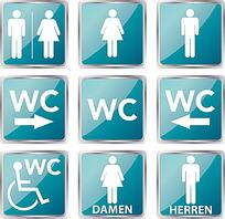 厕所标志矢量素材