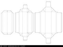 长方形圆孔包装盒刀模