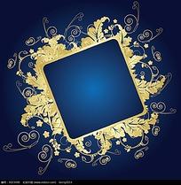 金色方形边框素材