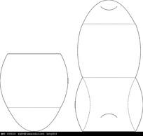 矢量包装盒刀模设计图