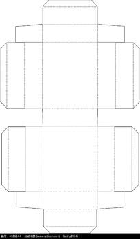 长方形包装盒展开图