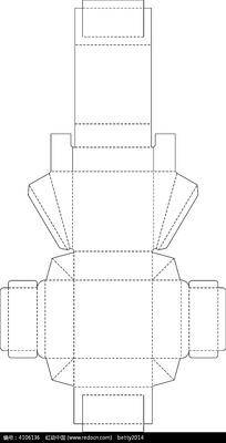 矢量圆形包装盒刀模