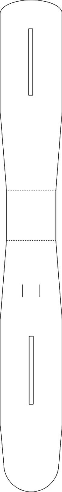 一个异形的包装盒刀模