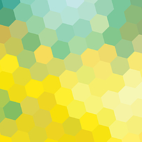黄色绿色六边形底纹
