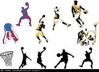 篮球远动员矢量素材
