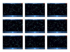 藍色雨滴FLASH視頻素材