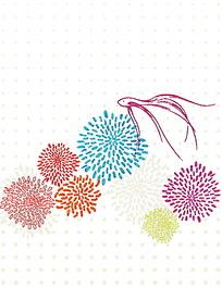 烟花花朵矢量背景素材