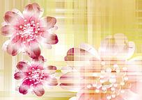 粉色花朵矢量背景