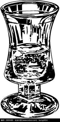高脚杯矢量素描