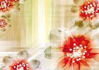 光影花朵矢量背景