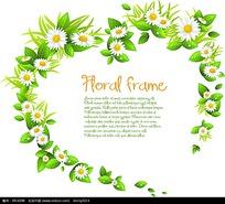绿叶菊花组成的心形对话框
