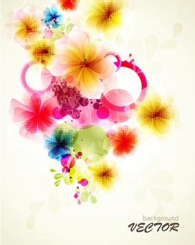 唯美花朵矢量背景