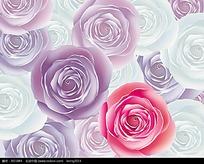 鼠绘花朵矢量背景