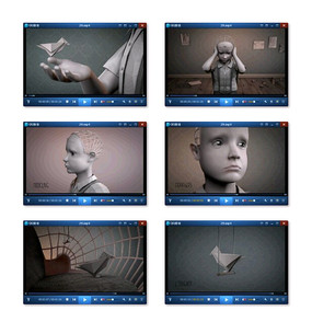 3D孤独小男孩动画视频