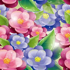 手绘花朵矢量背景
