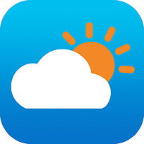 蓝天太阳白云手机APP图标