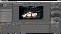 国外AE剪辑界面背景视频