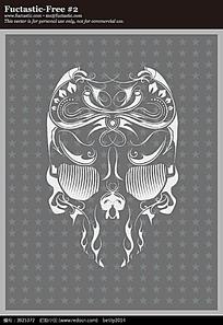 手绘骷髅头图案