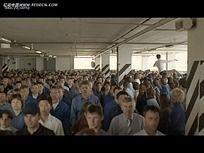 国外室内人群视频