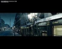 国外街道店铺招牌视频
