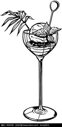 果汁高脚杯矢量图形