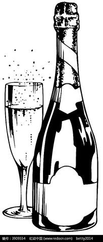 红酒高脚杯矢量图形
