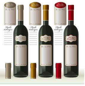 紅酒瓶紅酒包裝矢量素材
