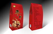 红色枣片包装盒效果图