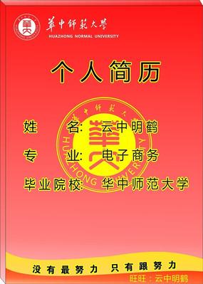 华中师范大气电子商务毕业生简历