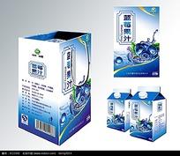 蓝莓果汁包装盒效果图