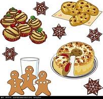 矢量蛋糕面包饼干矢量图形