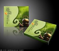 茶韵绿色包装盒效果图