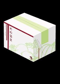 有机蔬菜包装盒效果图