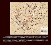 百团大战作战部署图战略图