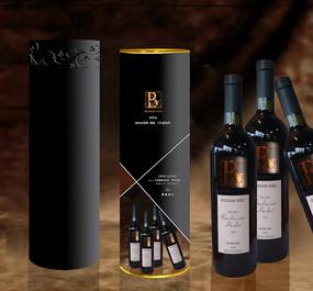 红酒高档时尚包装设计模板