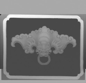 门环灰度雕刻图