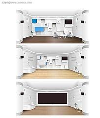 3款木质地板展厅效果图