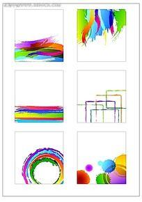 简单彩色图案图集