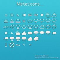 手机app天气预报应用图标